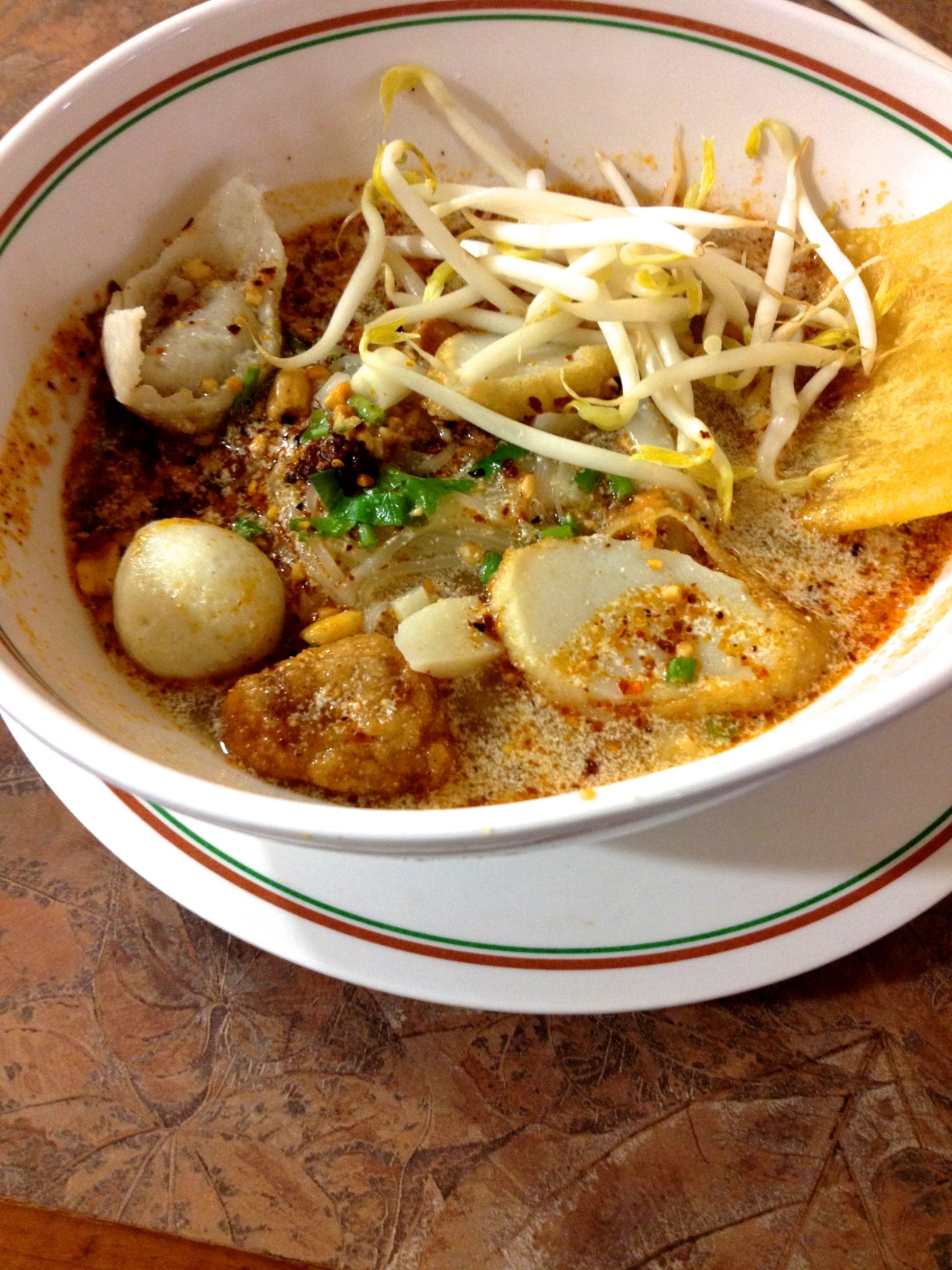 Fish ball soup / So spicy, so good
