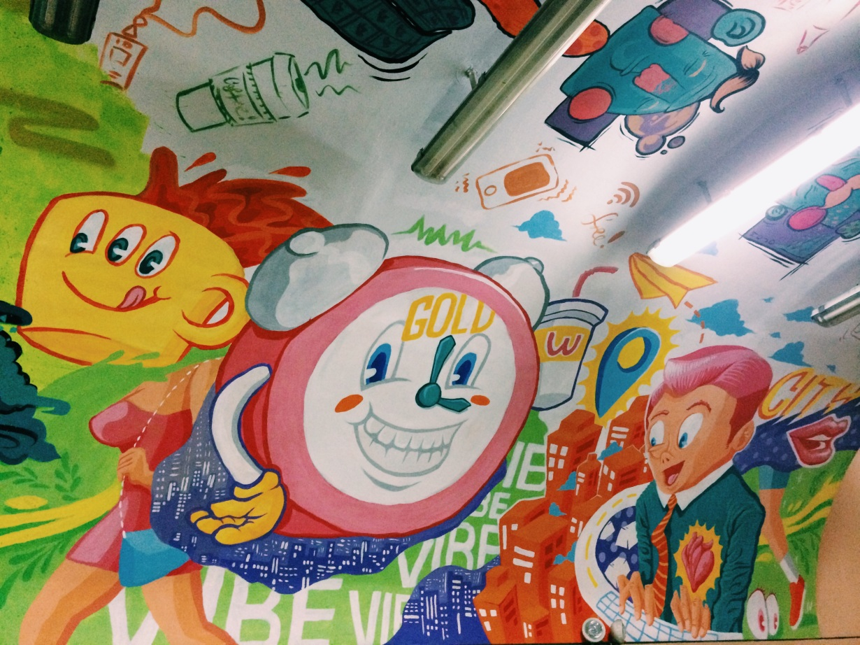 Happy times in Manila street art