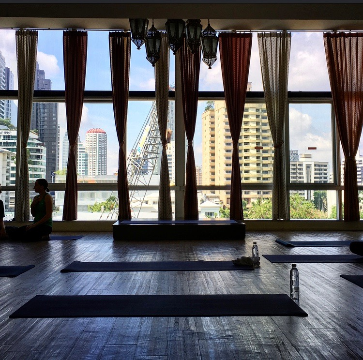 Yoga with a view, thanks GuavaPass!