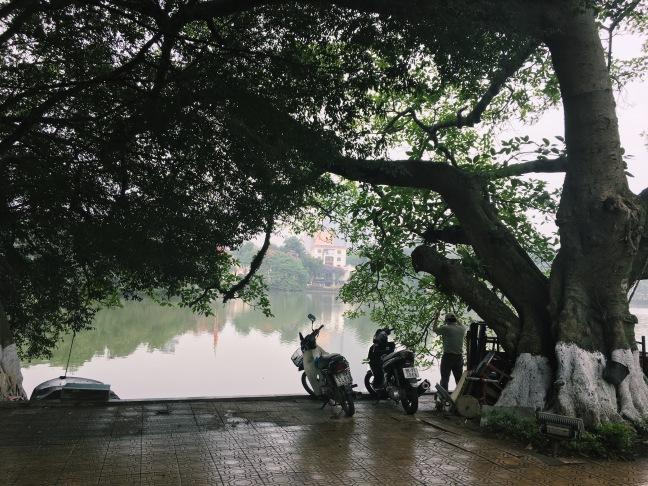 Misty, but still hot AF, mornings around Hoàn Kiếm Lake.