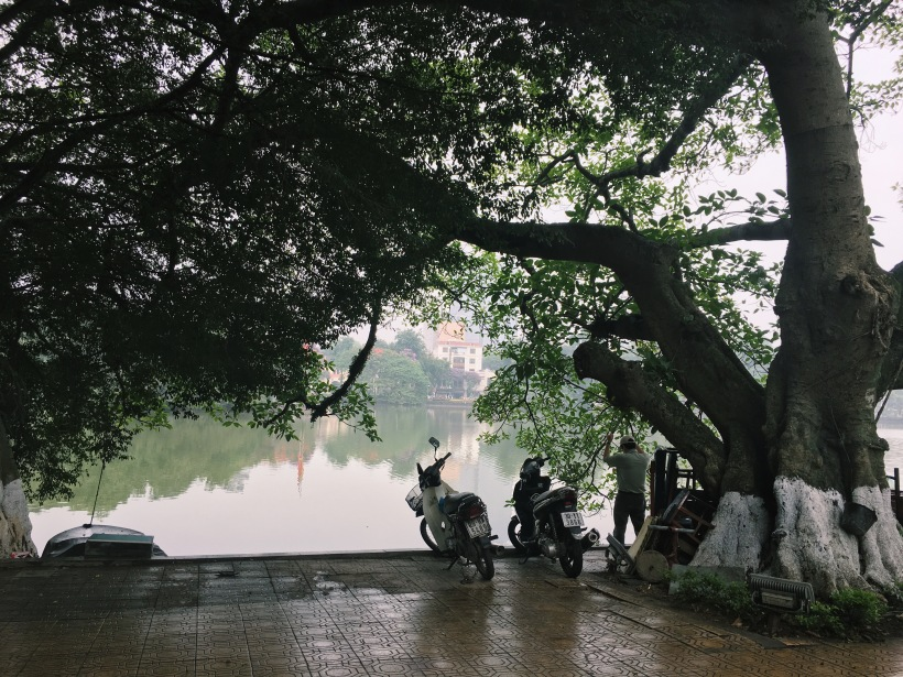 Misty, but still hot AF, mornings around Hoàn Kiếm Lake.