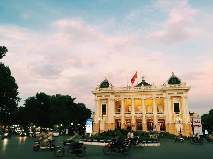 The beautiful Hanoi opera house.