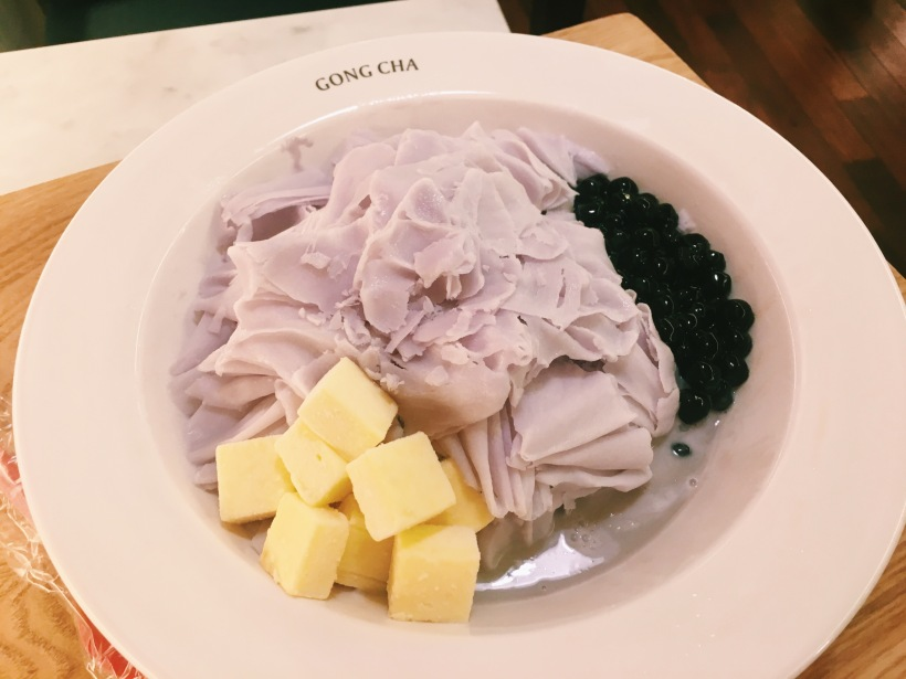 Taro shaved ice with boba, because dreams *do* come true.
